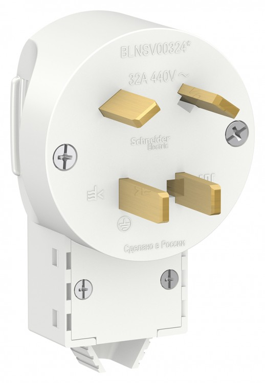 Вилка силовая Schneider Electric Blanca 3К+З 440В